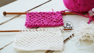 Knitting stitch pattern for scarves and cowls