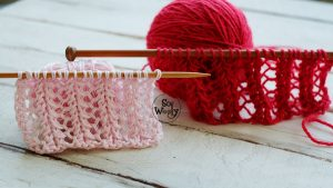 Learn to knit vintage lace stitches step by step