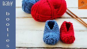 baby booties knitting pattern for beginners