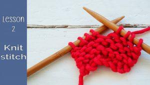 Knit stitch or garter stitch