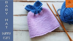 How to knit baby Hat Bunny Ears for beginners