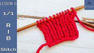 How to knit the 1-1 Rib stitch So Woolly