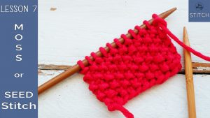 How to knit the Moss Seed stitch So Woolly Lesson 7