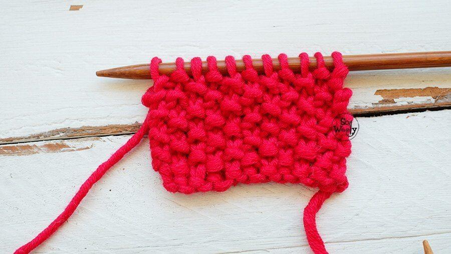 Seed Stitch Moss Stitch Knitting Step By Step