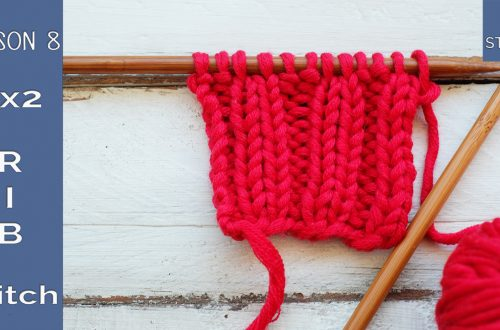 How to knit 2x2 Rib stitch Lesson 8 So Woolly