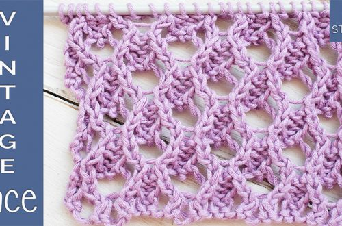 How to knit vintage lace step by step So Woolly