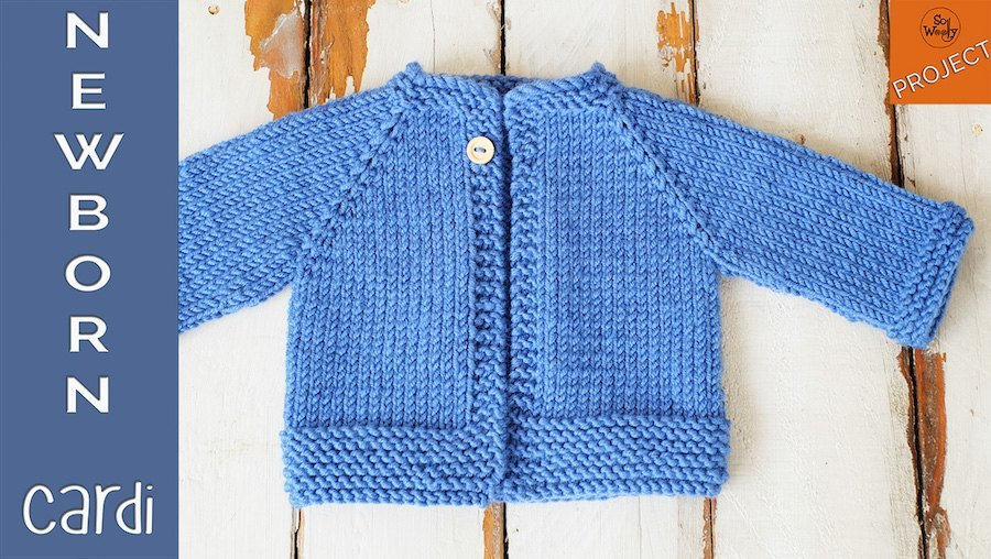 cb600898d How to knit a Newborn Cardigan for beginners - So Woolly