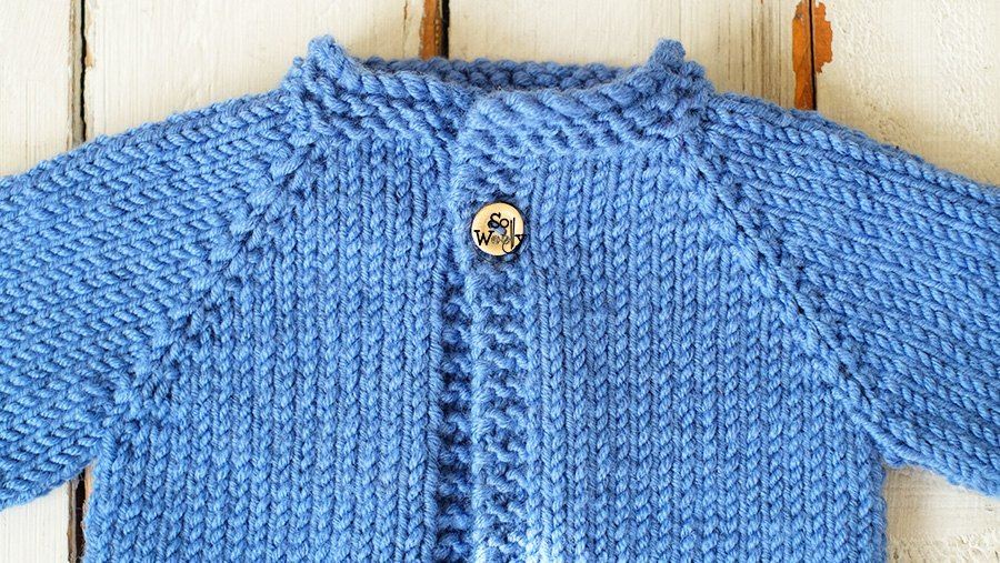 How to knit newborn baby jacket step by step
