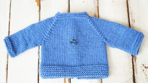 Raglan baby jacket knitting tutorial for beginners