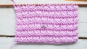 Reversible stitch for knitting scarves cowls for beginners