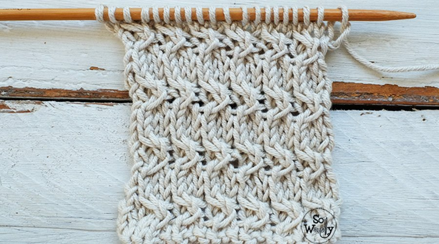 Dense textured knitting stitches dictionary tutorials