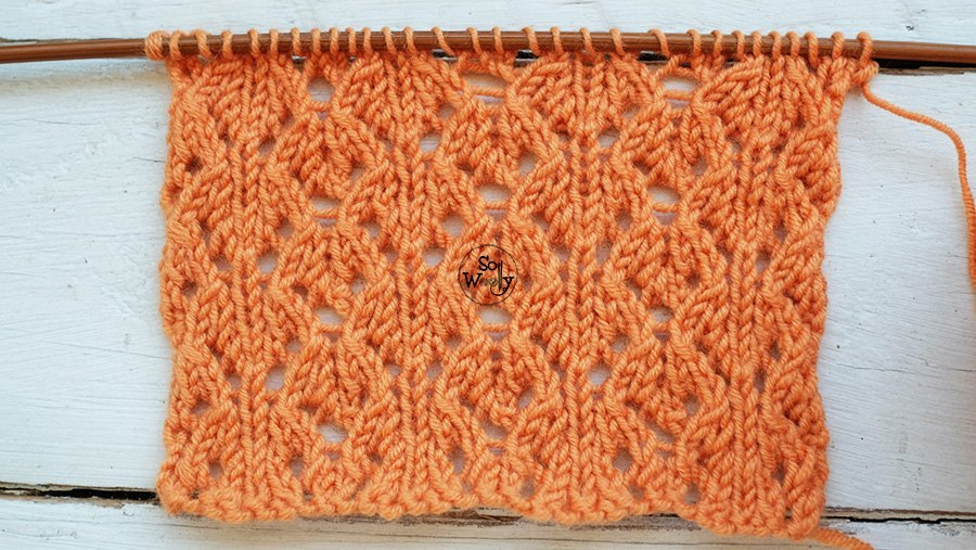 How to knit Spring Lace stitch for beginners So Woolly