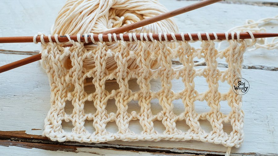 How to knit lace stitches step by step