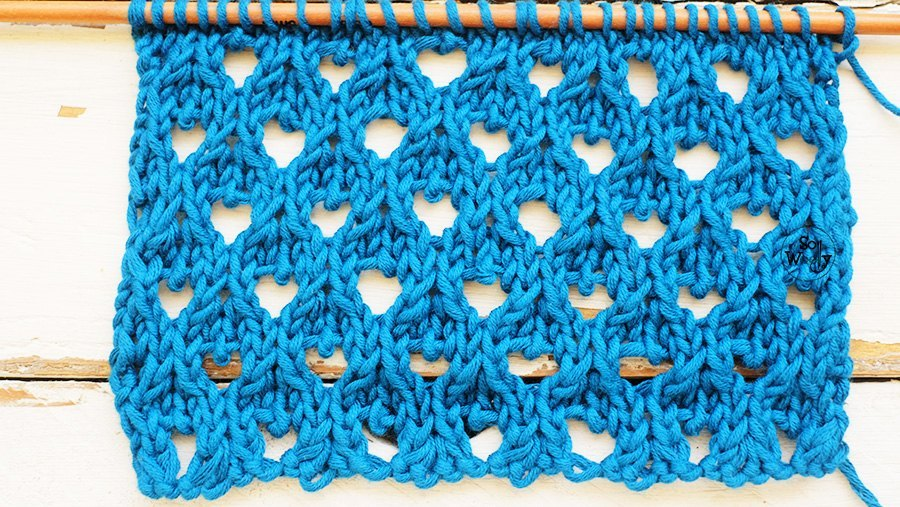 Peacock Lace Knitting Stitch Pattern Step By Step So Woolly