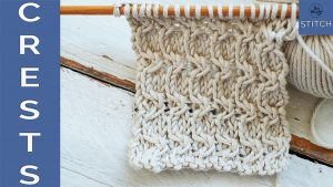 How to knit the Crests stitch knitting pattern So Woolly