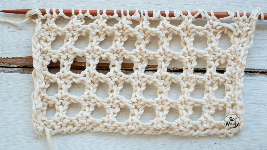 Lace stitches knitting dictionary and videos