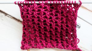 Learn to knit lace netting stitch sowoolly
