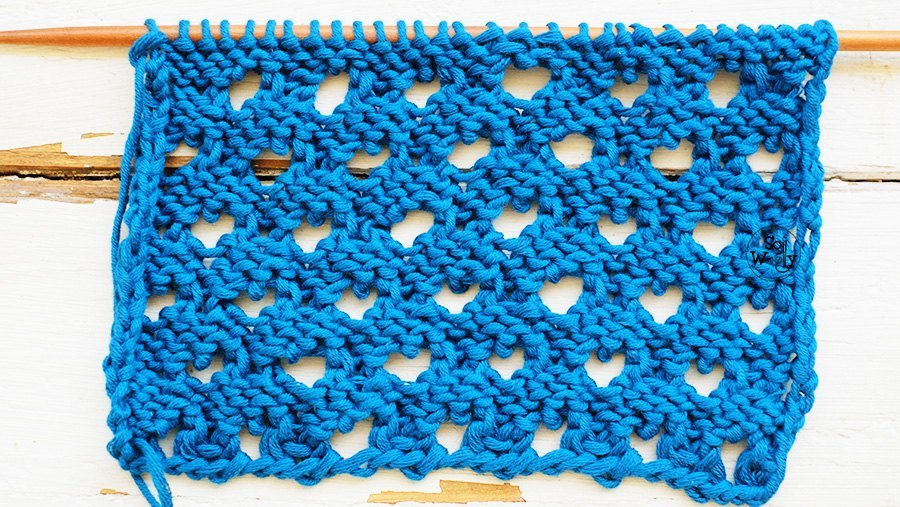 Peacock lace knitting stitch pattern sowoolly