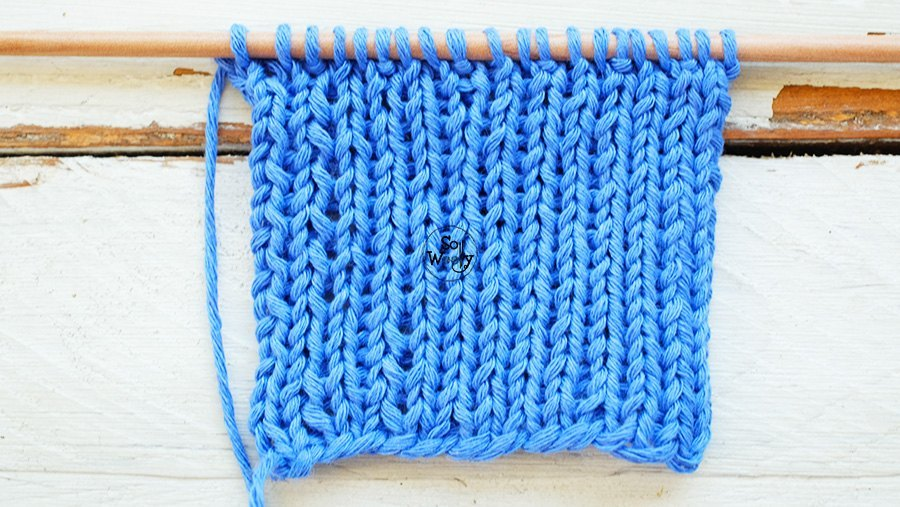 Slip stitch rib knitting pattern video tutorial So Woolly