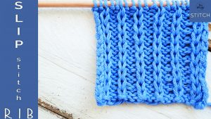 Tutorial Slip stitch knitting pattern for beginners