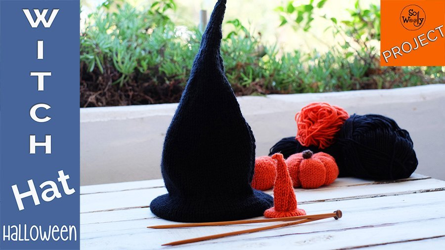 How to knit witch wizard warlock hat all sizes free pattern