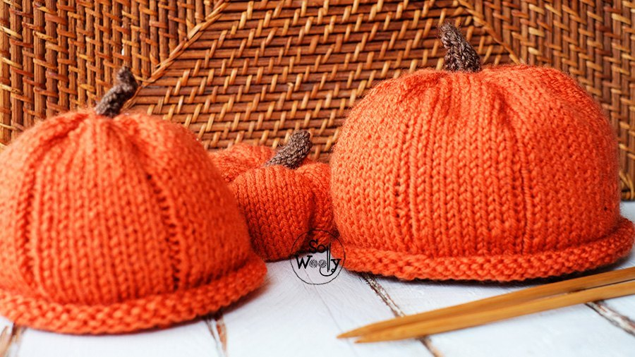 Pumpkin hat free knitting pattern So Woolly