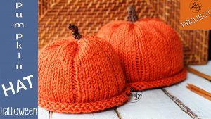 how to knit pumpkin baby hat free pattern tutorial