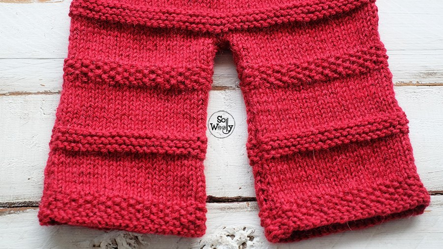 Baby pants knitting tutorial step by step