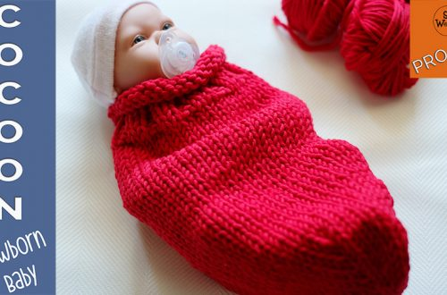 How to knit a cocoon for a newborn baby step by step
