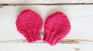 How to knit anti scratch mittens for newborn