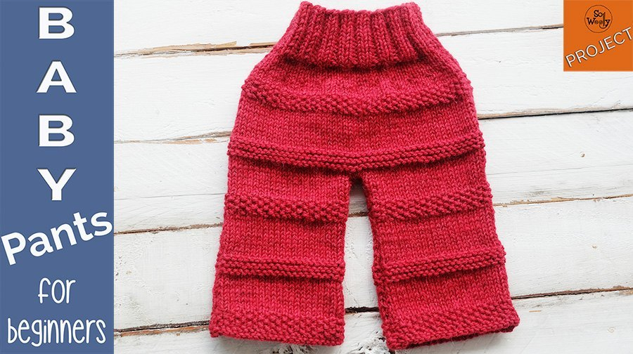 How to knit baby pants for beginners 3 months of age