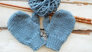 Mittens with thumbs for children free knitting pattern
