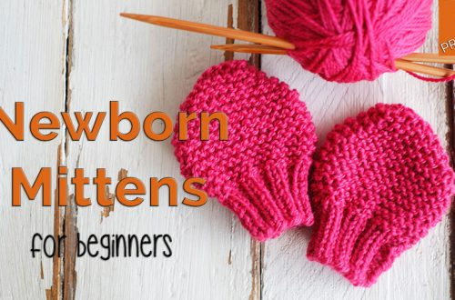 Newborn Mittens knitting pattern for beginners
