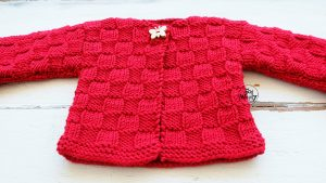 Baby Cardigan knitting tutorial step by step