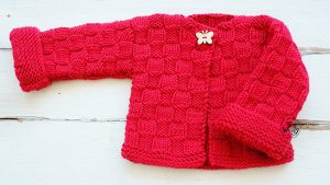 Childrens Cardigan for beginners free knitting pattern