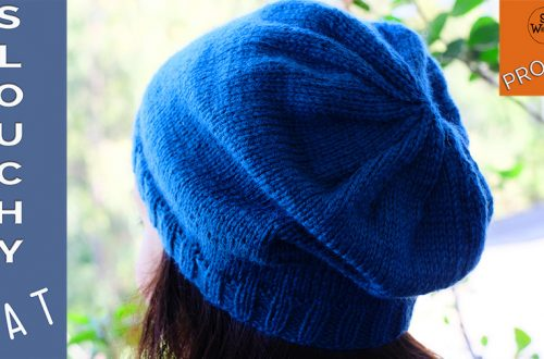 How to knit a slouchy hipster hat for absolute beginners