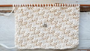 Easy dense reversible diagonal stitch knitting pattern for beginners