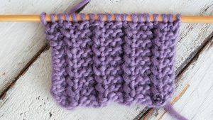 Reversible knitting stitch pattern in one row tutorial