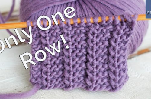 one row stitch knitting pattern for beginners