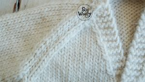 Easy V Neck Baby Raglan knitting pattern and video tutorial