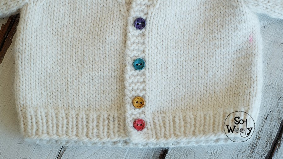 How to knit baby raglan jacket step by step