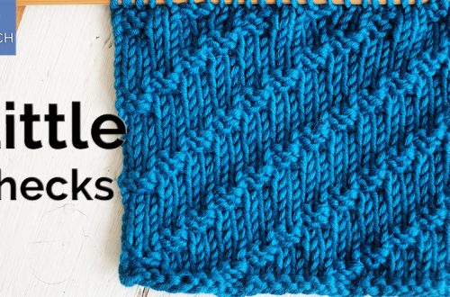 How to knit the Little Checks stitch for beginners