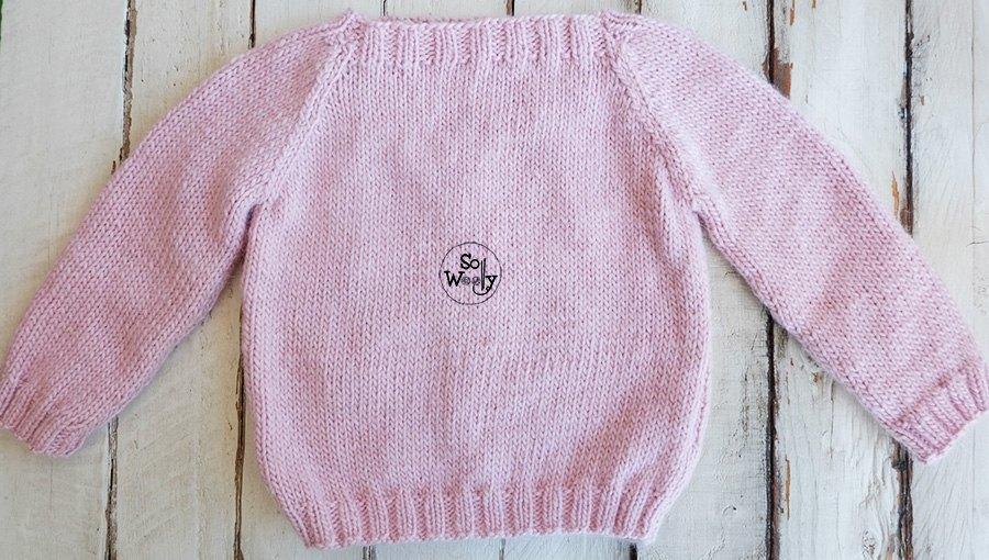 Children Raglan sweater free knitting pattern for beginners