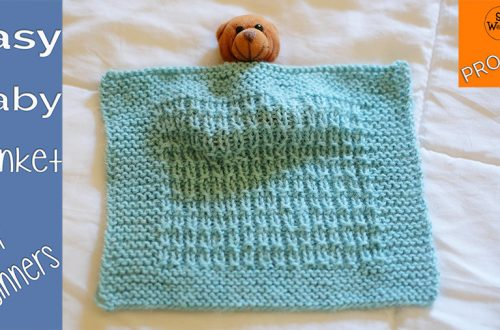 Easy baby blanket knitting pattern for beginners
