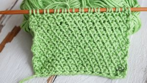 Easy reversible knitting stitch for beginners flower design