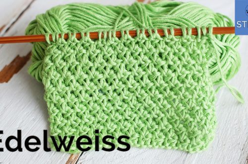 Edelweiss stitch pattern for knitting blankets scarves doesn't curl