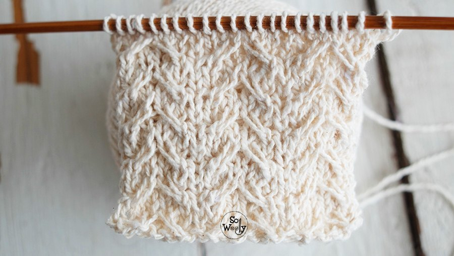 How to knit crossed stitches using cable needle tutorial for beginners