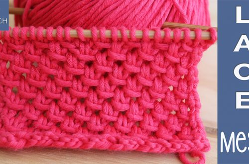 How to knit the most charming lace mesh pattern