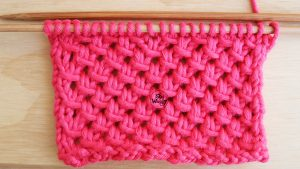 Lace Mesh easy knitting stitch pattern for beginners