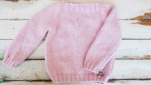 Raglan sweater for toddler free knitting pattern tutorial